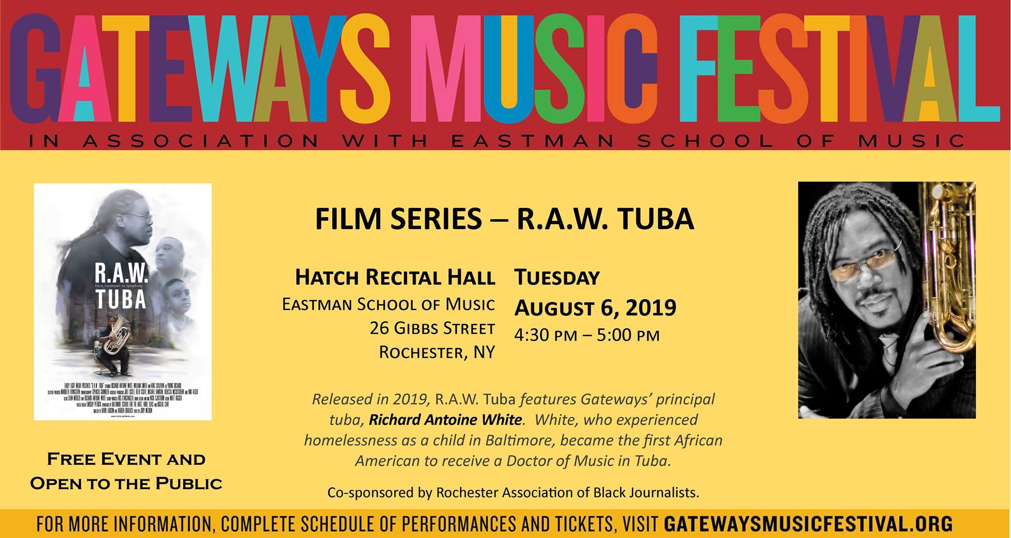 2019 GATEWAYS MUSIC FESTIVAL FILM SERIES: